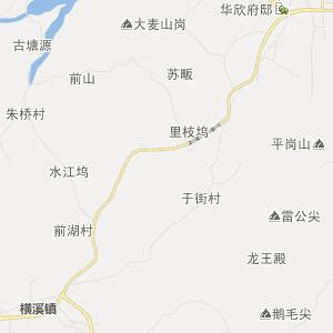 金华浦江行政地图_中国电子地图网