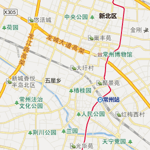 常州天宁行政地图_中国电子地图网