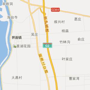 高邮市临泽镇行政地图