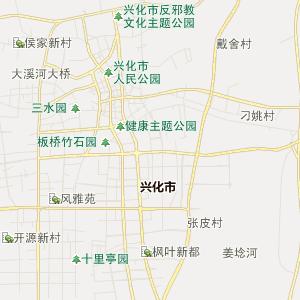 高邮市甘垛镇行政地图