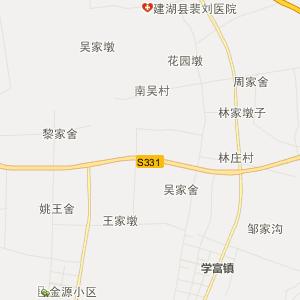 盐都秦南行政地图_中国电子地图网