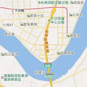 杭州江干行政地图_中国电子地图网