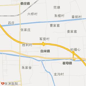 姜堰娄庄行政地图_中国电子地图网