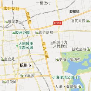 胶州 北关 行政地图 北关行政区划图