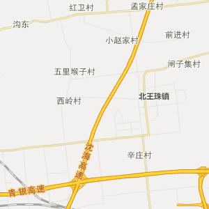 胶州胶北行政地图