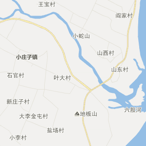 兴城市东辛庄镇行政地图
