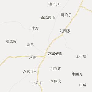 朝阳县瓦房子镇行政地图