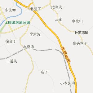 朝阳县柳城镇行政地图