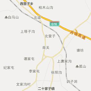 朝阳市朝阳县松岭门蒙古族乡地图