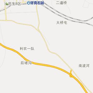 呼伦贝尔牙克石行政地图