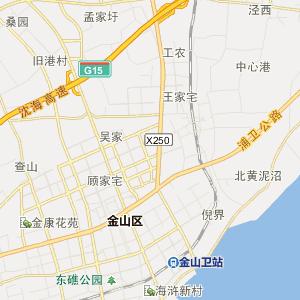 金山吕巷行政地图_吕巷在线行政图