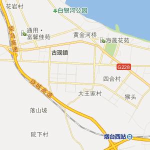 烟台福山行政地图_中国电子地图网图片