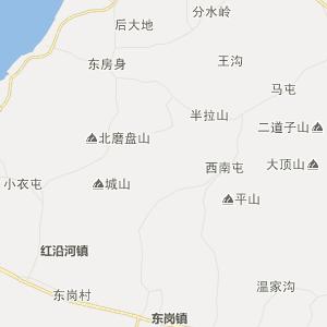 瓦房店市复州城镇行政地图