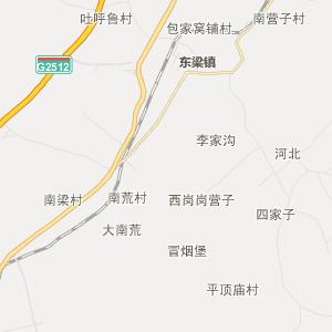 阜新县佛寺镇行政地图图片