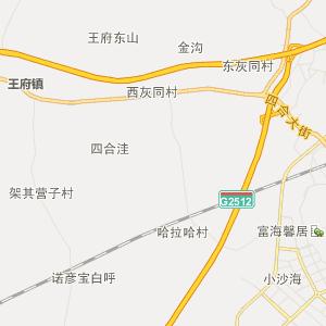 阜新王府行政地图_王府在线行政图