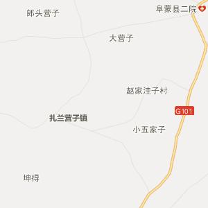 阜新县务欢池镇行政地图图片