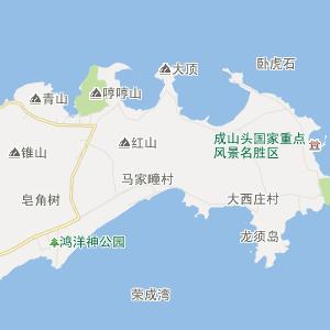 山东省行政地图 威海市行政地图