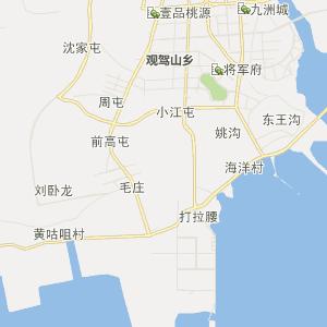 大连市庄河市行政地图