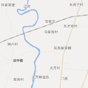辽宁省行政地图 鞍山市行政地图