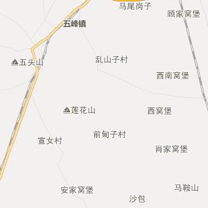 阜新县泡子镇行政地图图片