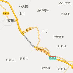 辽宁行政地图 丹东行政地图