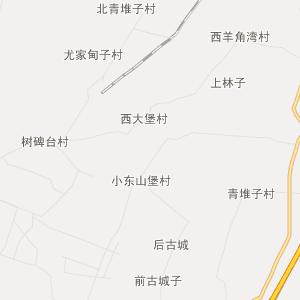 灯塔市万宝桥街道行政地图