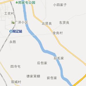 双辽那木斯行政地图_中国电子地图网