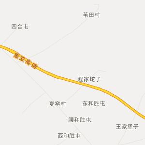 梨树县林海镇行政地图