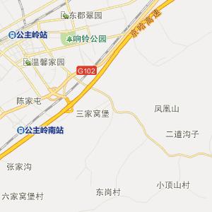 公主岭市苇子沟街道行政地图图片