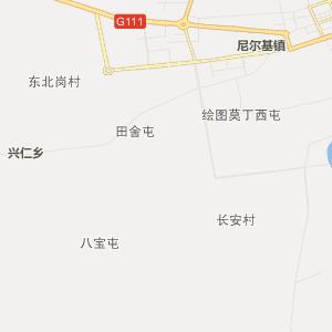呼伦贝尔莫力达瓦行政地图