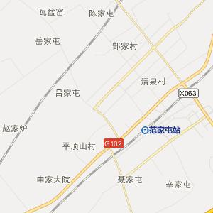 公主岭市范家屯镇行政地图图片