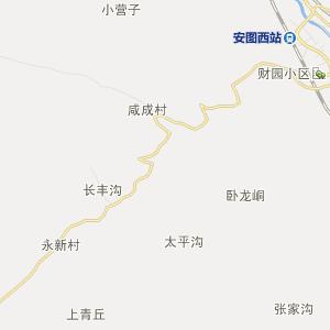 延边安图行政地图_中国电子地图网