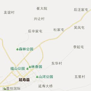 哈尔滨市延寿县高清行政地图