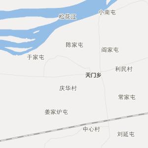 哈尔滨方正行政地图_中国电子地图网