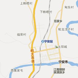 牡丹江宁安行政地图_中国电子地图网