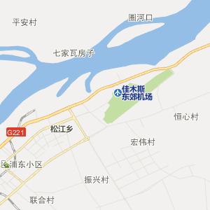 佳木斯市向阳区行政地图