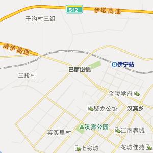 伊犁州行政地图 伊宁市行政地图