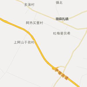 伊宁墩麻扎行政地图_中国电子地图网