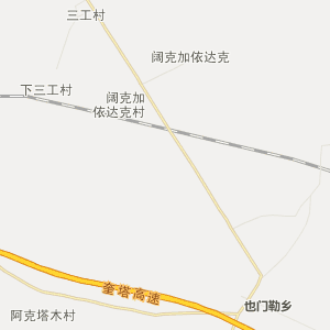 塔城也门勒行政地图_中国电子地图网