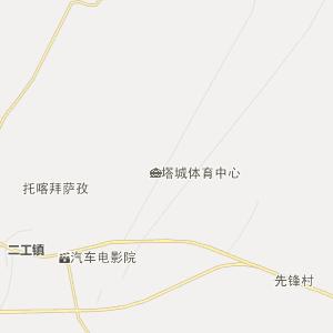 新疆行政地图 塔城行政地图