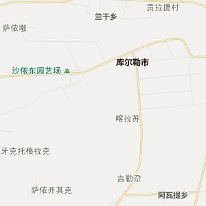 新疆巴音郭楞行政地图