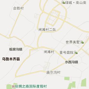 乌鲁木齐乌鲁木齐行政地图