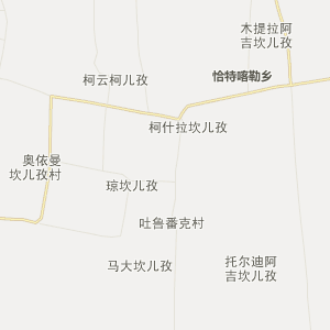新疆行政地图 吐鲁番行政地图