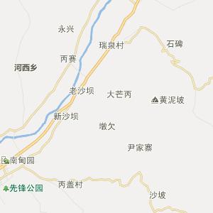 县城遮岛距省会昆明690千米;距州府芒市