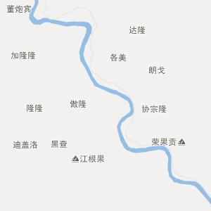 四川省行政地图 甘孜州行政地图