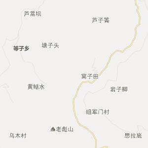 保山市施甸县行政地图