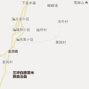 怒江兰坪行政地图_中国电子地图网