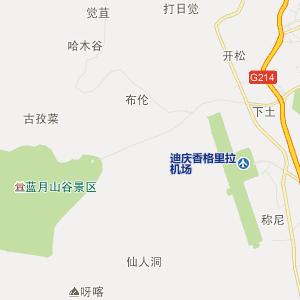 迪庆香格里拉行政地图
