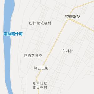 新疆和田县布扎克乡克沙小学地图