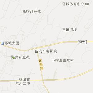 新疆塔城旅游地图_塔城在线旅游图